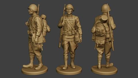 Russian soldier ww2 Walk R1