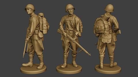 Russian soldier ww2 Walk3 R1