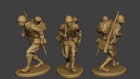 Russian soldier ww2 Walk4 R1