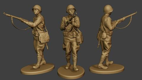 Russian soldier ww2 Walk5 R1