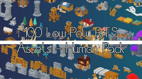 100 Low Poly Medieval Asset Pack[Human]