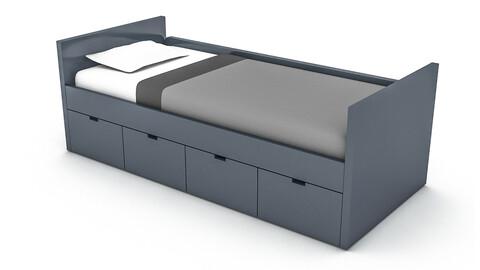 3D 3d wardrobe bed 07