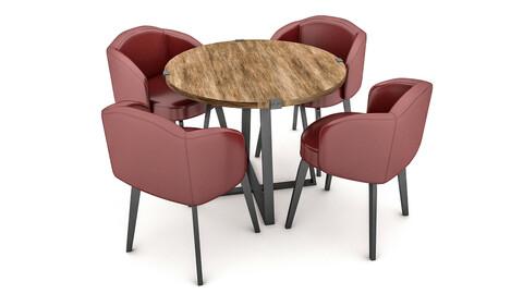 modern desk chair 03 3D model