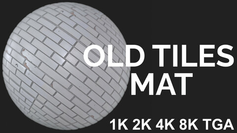 Old Wall Tiles - PBR Material FREE DEMO