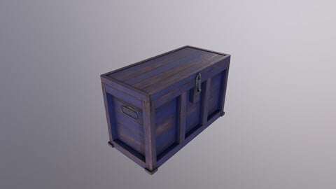 Old wooden Chest Low-poly