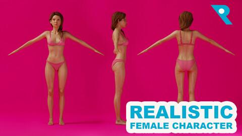 Realistic Female Character - Chene 3D model