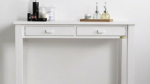 Solid wood decorative console table