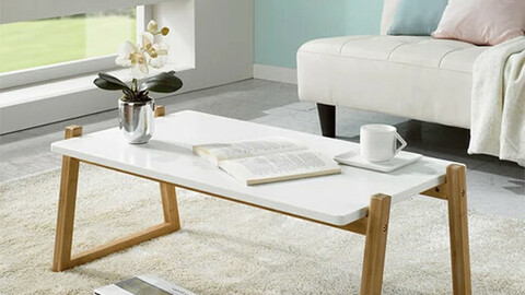 Vivid wooden living room table