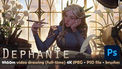 DEPHANIE 2  - full video 9h50M (real time, full HD 60fps) - 4k image - PSD - Brushes