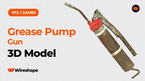 Grease Pump Gun Raw Scanned 3D Model