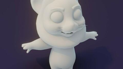 Cartoon Lion Rigged Base Mesh 3D Model
