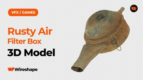 Rusty Air Filter Box Raw Scanned 3D Model