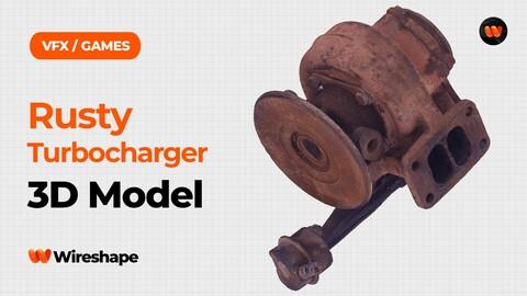Rusty Turbocharger Raw Scanned 3D Model