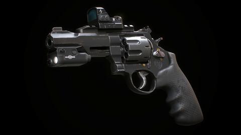 Revolver Smith & Wesson M&P R8 with flashlight & reflex scope