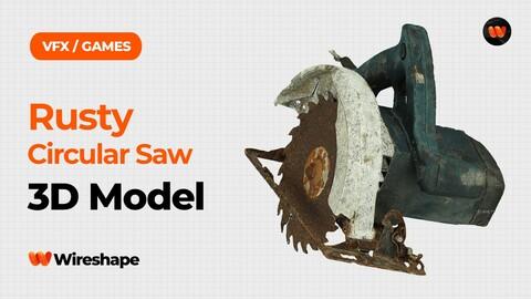 Rusty Circular Saw Raw Scanned 3D Model