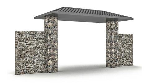 garden gate 3D model