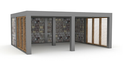 garden garage 3D model