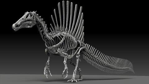Spinosaurus 2020 version Full Set Skeletons Sculpt Project