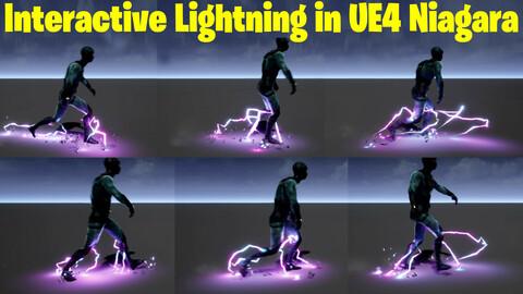 Interactive Lightning in UE4.27 Niagara