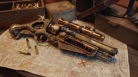 Steampunk Gun Game Asset Tutorial