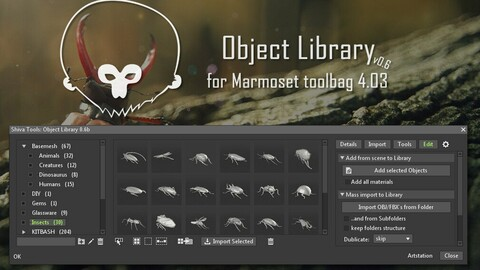 Object Library for Marmoset toolbag 4