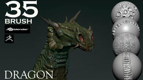 Brush Pack 35 Alpha Dragon