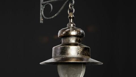 Old Wall Street Lantern 8K