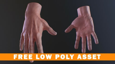 Low Poly Hand - Free Asset