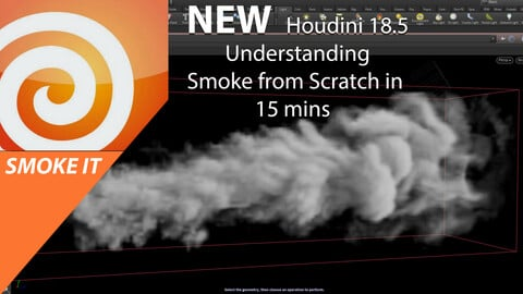 NEW---- SMOKE FROM SCRATCH IN HOUDINI 18.5. ll JUST FEW NODES TO GET YOU SMOKED.