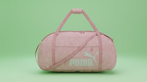 Sports, Equipment, Bag sports pink (polygonal 3D model with PBR textures)