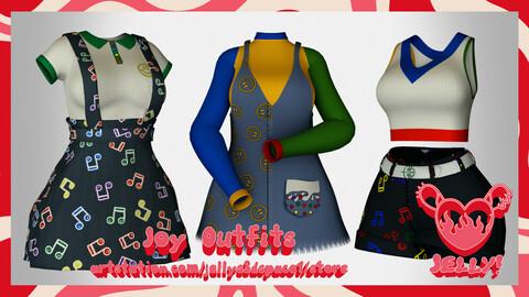Joy Outfits [3D ASSET]