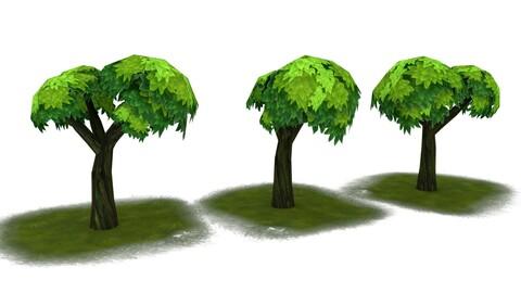 #stylizedgameart| Stylized tree | Stylized environment tree | hand painted tree | gaming asset plants |