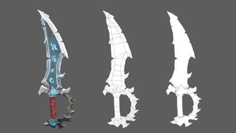 #stylizedgameart   stylized game sword    Stylized Sword   hand painted sword