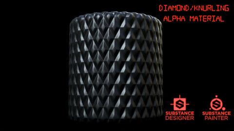 Free Diamon / Knurling Pattern Alpha Material