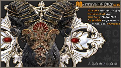 Ornament Kitbash / Alpha / 3D Models / IMM vol 03
