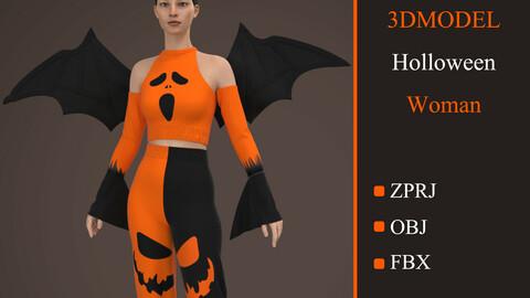 Dress Halloween Women Marvelous Designer And Clo3d