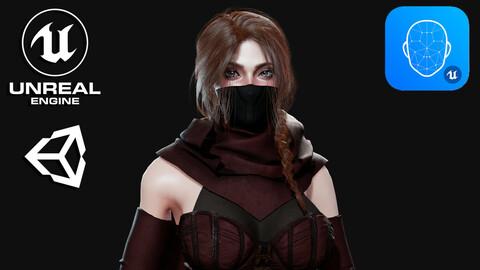 Assassin Girl - Game Ready