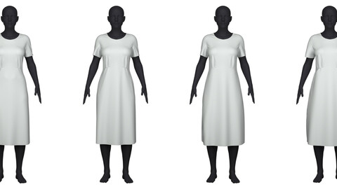 Women's dress in 4 different fits/sizes