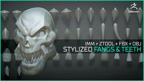 Stylized fangs and teeth - 50+ Insert mesh Zbrush
