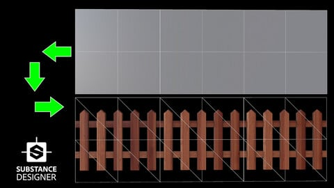 Stylized Wooden Fence Material (.sbs+.sbsar + 4k Texture)