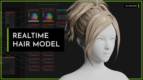 Realtime Hair Model - Hairstyle 006