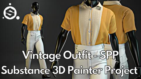 Substance Painter (.SPP) : Vintage outfit No.1