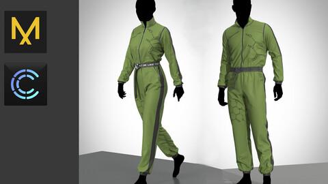 Toxic jumpsuit Male+Female (Clo3d, Marvelous designer Project)