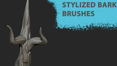 Bark curve brushes (Create the tree in 10 minutes)