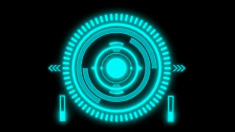 Sci-fi HUD Screen Animated