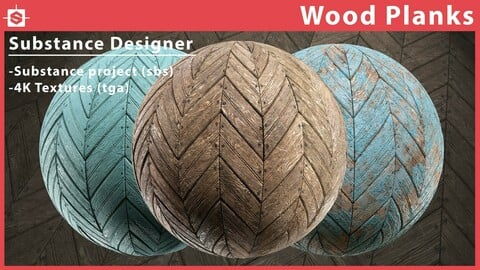 Painted Wood Planks Material - Substance Designer