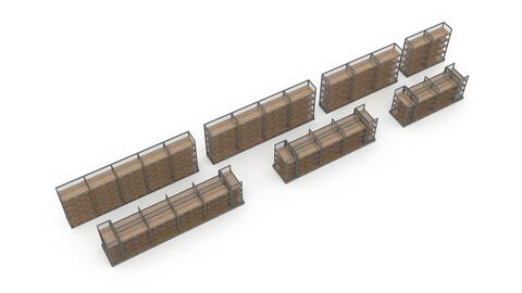 3D various market stands model