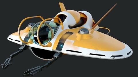 Battle submarine bathyscaphe