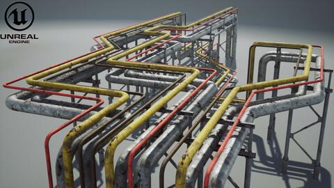 Modular industrial pipeline UE4 Unity