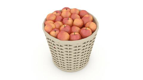 basket apple market sale 3D model